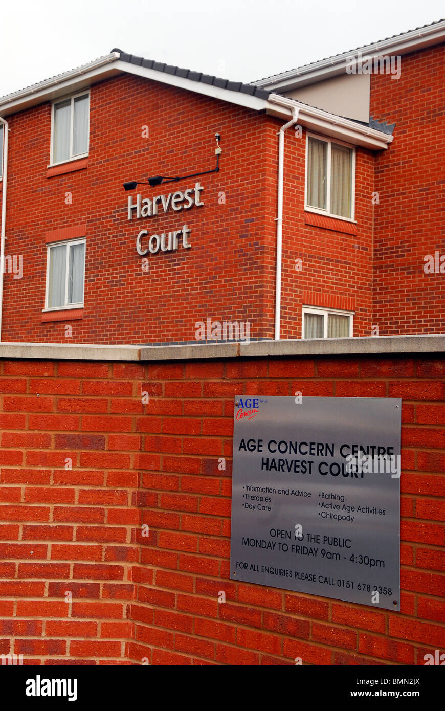 Facade of Age Concern elderly peoples' home, Wirral, UK. - Stock Image