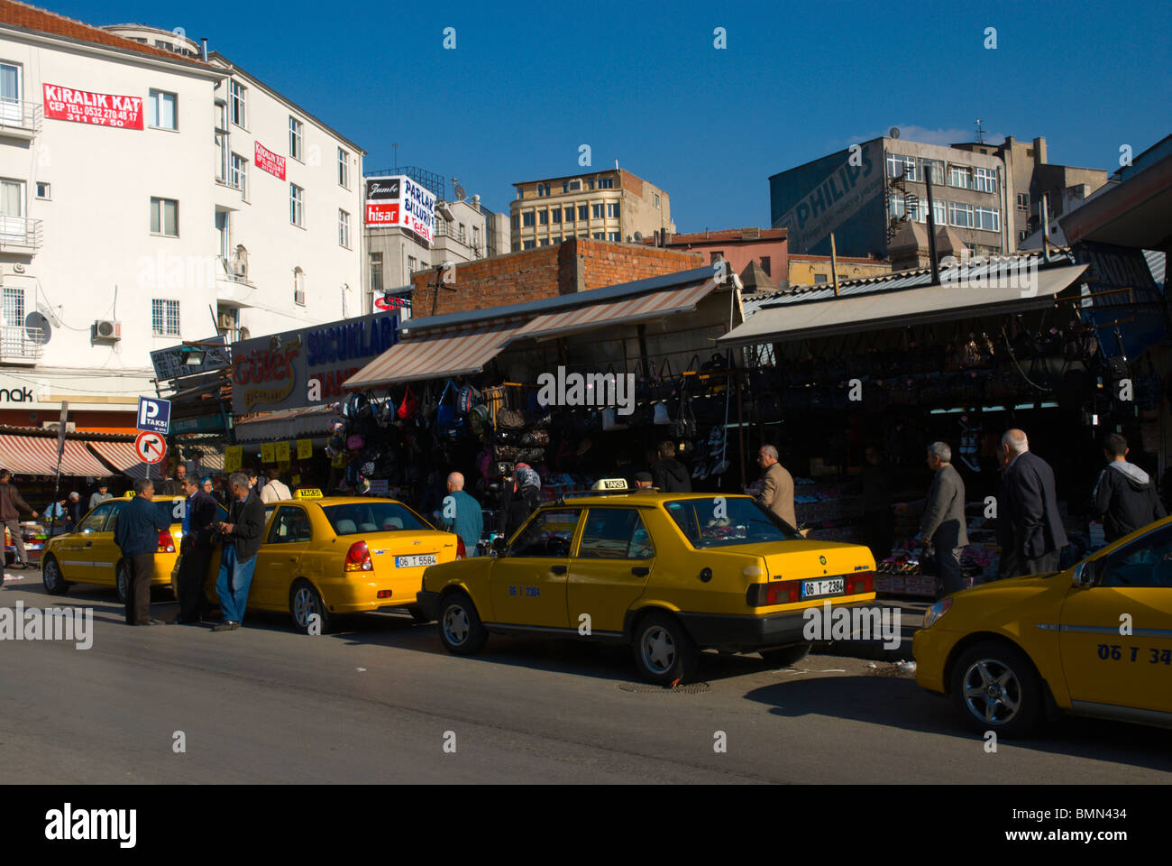 Taxis Ulus district Ankara central AnatoliaTurkey Asia Stock Photo