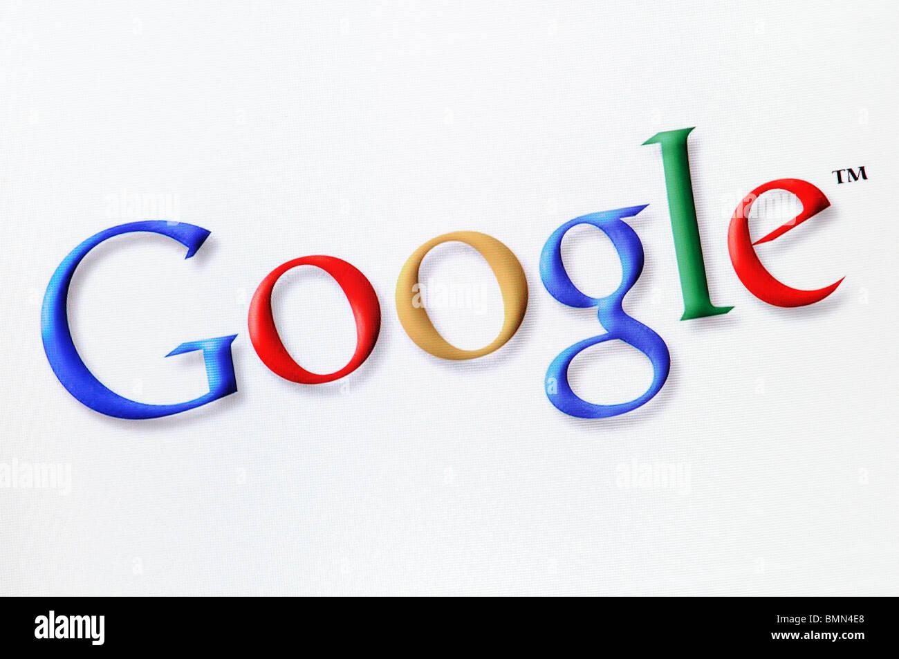 Google Search Engine Screenshot - Stock Image