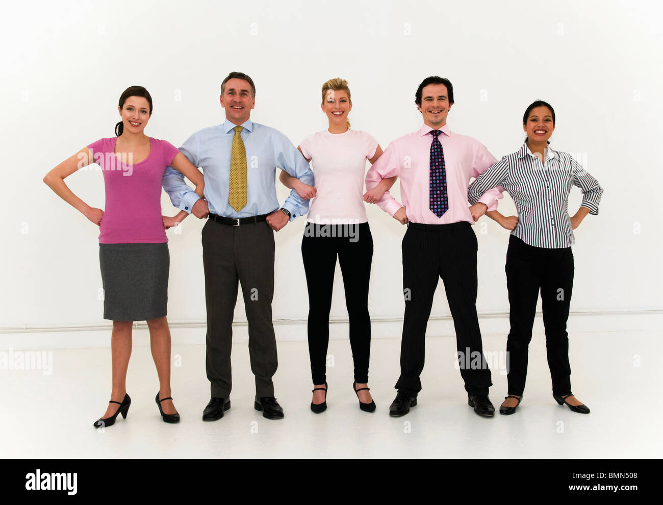 Confident business team united - Stock Image