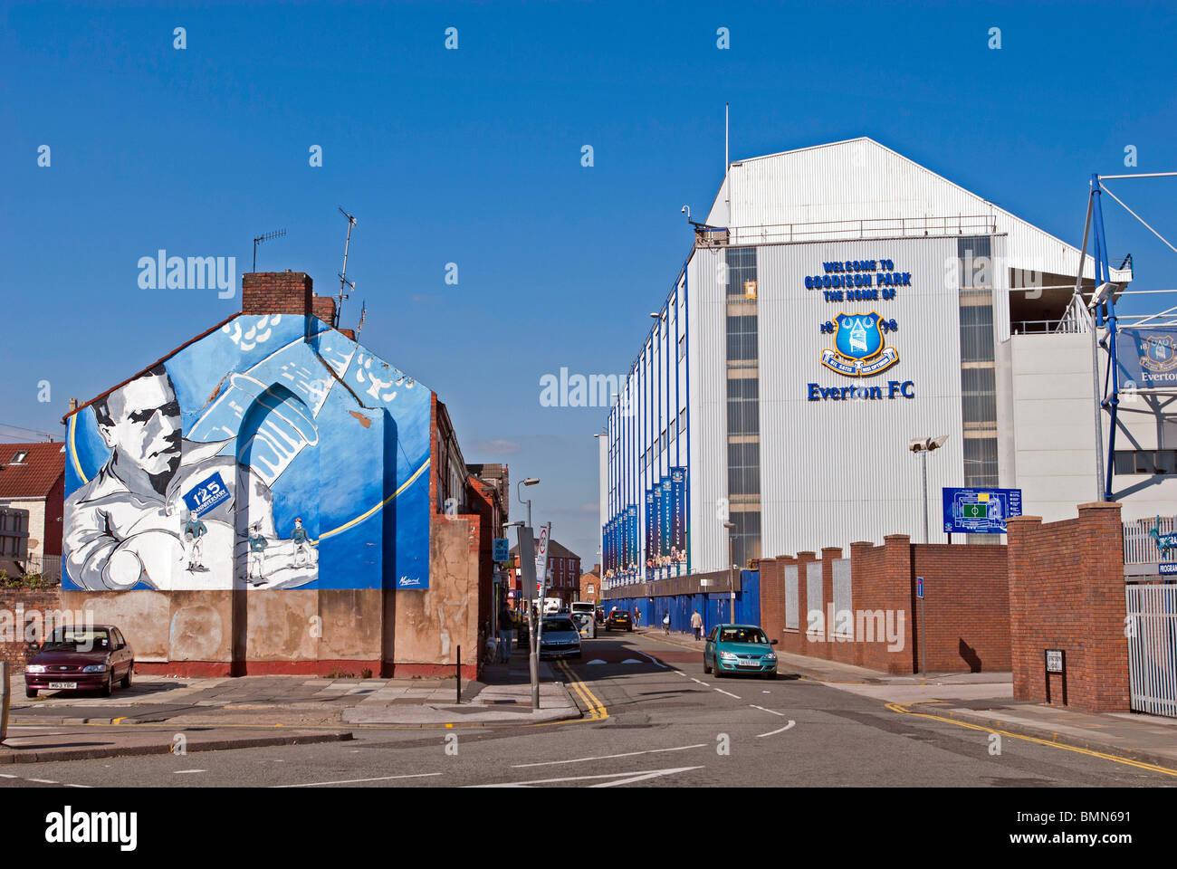 Goodison Park Liverpool home of Everton football club. Stock Photo