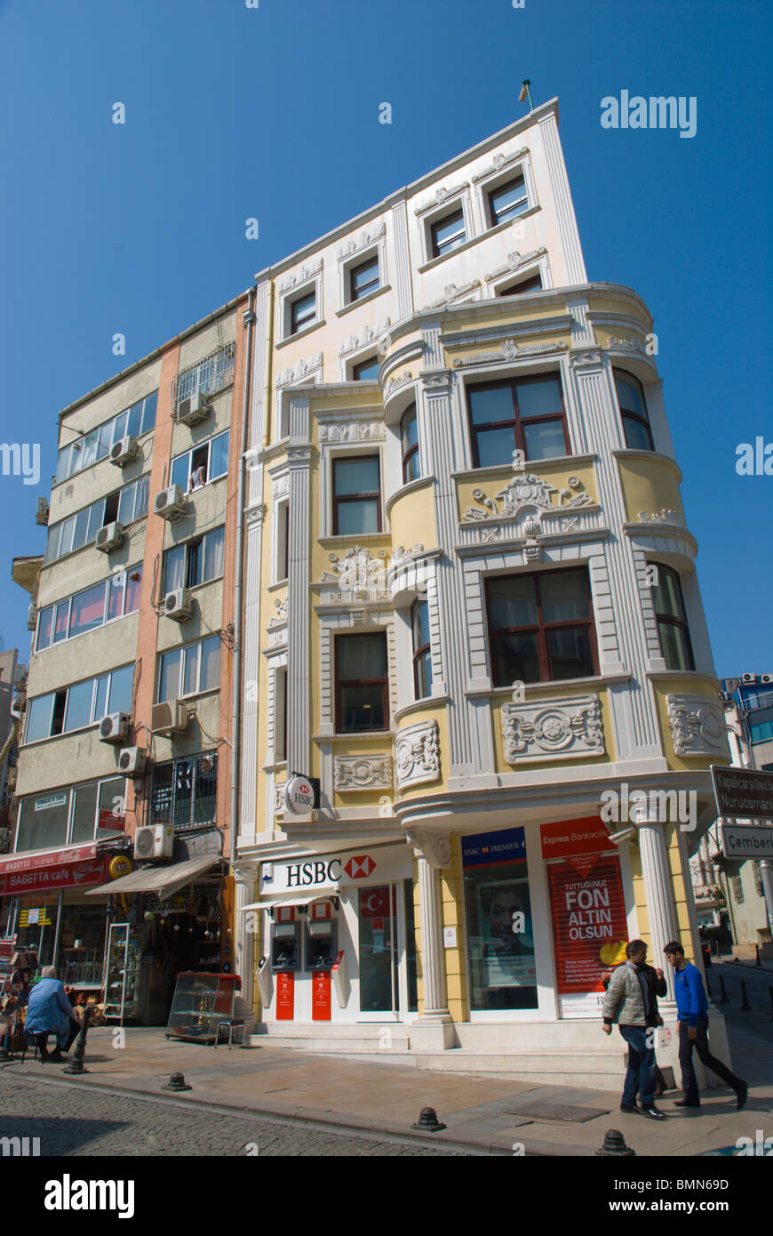 Architecture with HSBC bank branch Sultanahmet district