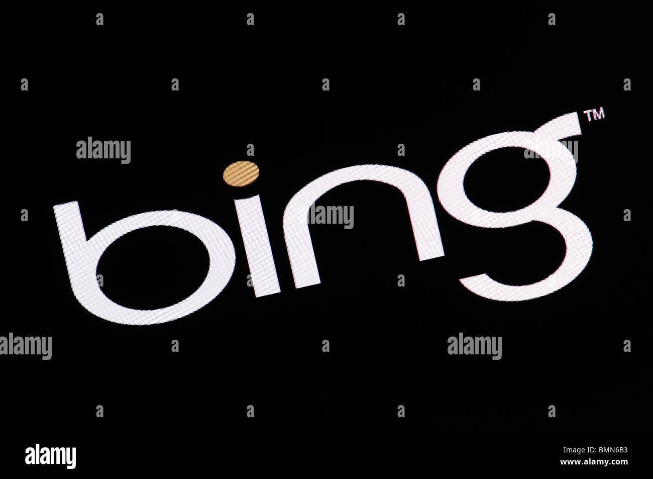 Bing Search Engine Screenshot - Stock Image