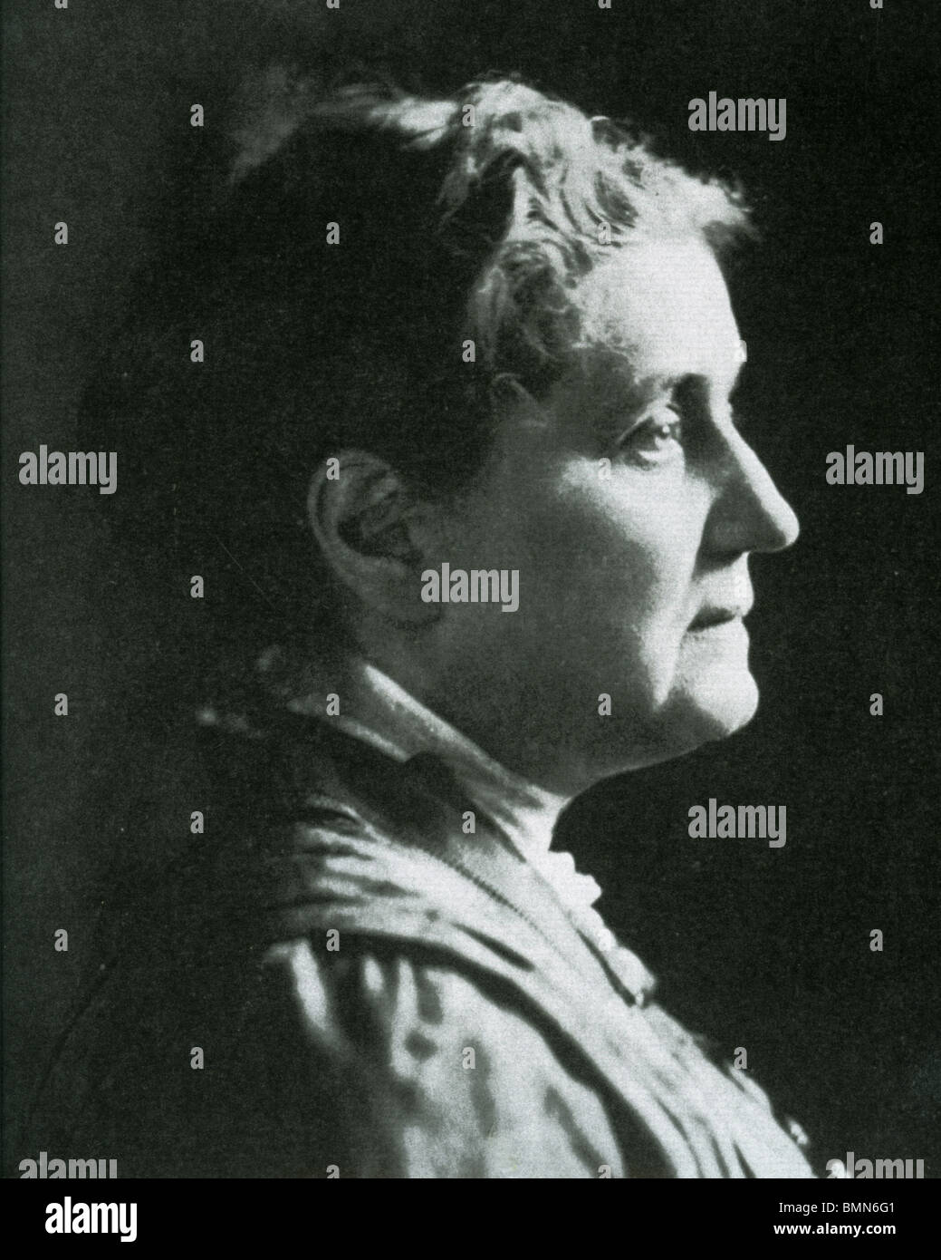 JANE ADDAMS  (1860-1935) a founder of the US Settlement House movement and the second woman to be awarded the Nobel - Stock Image