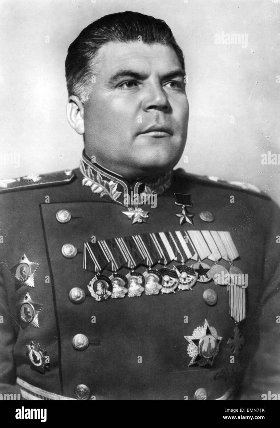 RODION MALINOVSKY  (1898-1967) Soviet military commander in WW2 - Stock Image