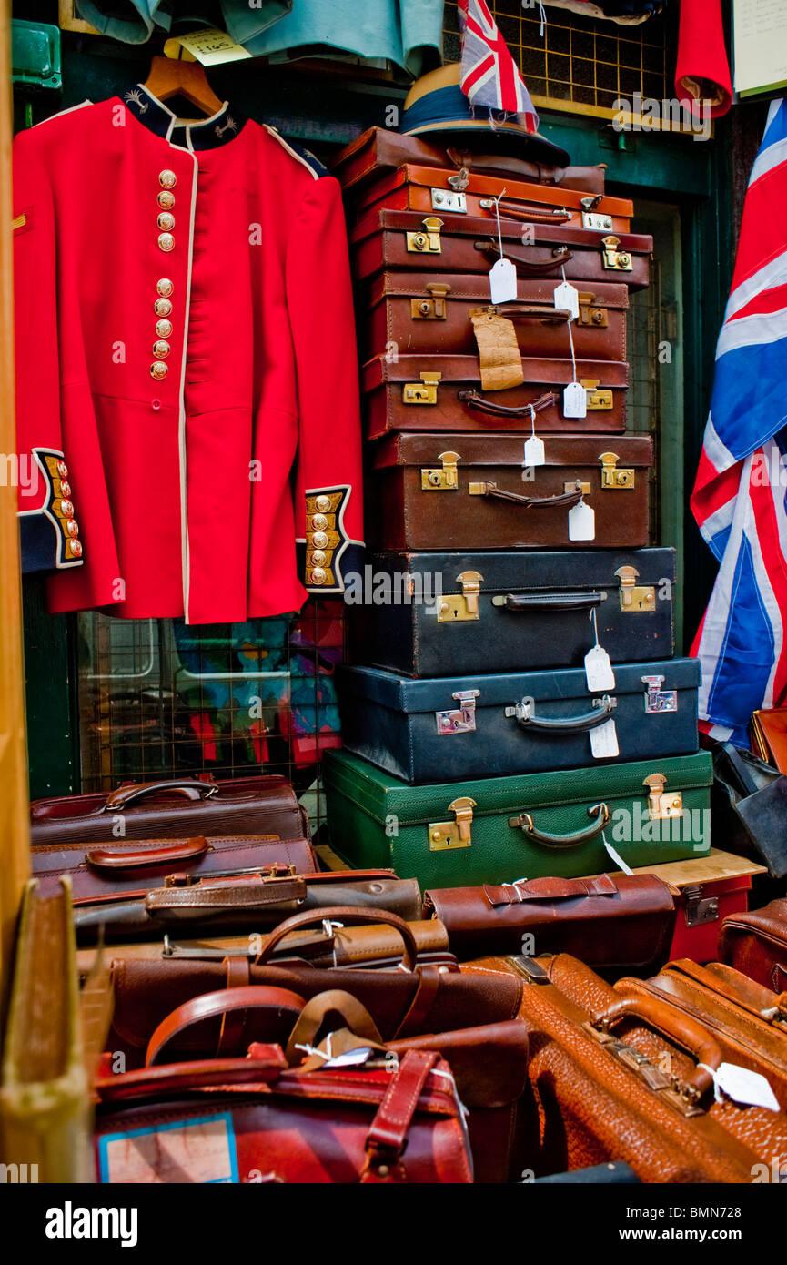 London England Uk Vintage Clothing Shop Display On Portobello