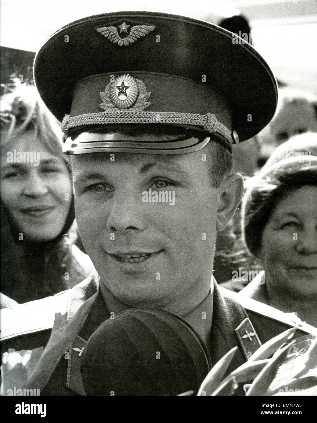 YURI GAGARIN  (1934-1968) - Soviet cosmonaut who was the first man to orbit the earth in outer space - Stock Image