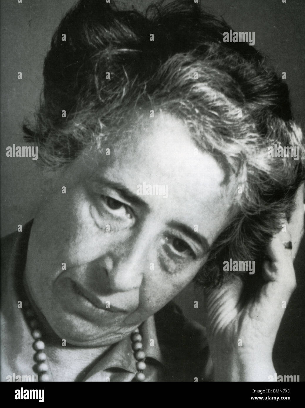 HANNAH ARENDT (1906-1975) German Jewish political theorist - Stock Image