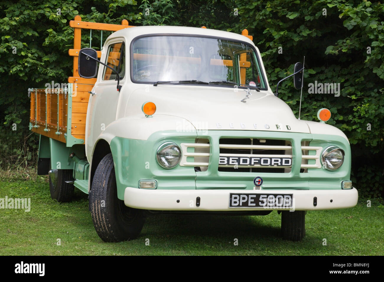 An old vintage Bedford truck. - Stock Image