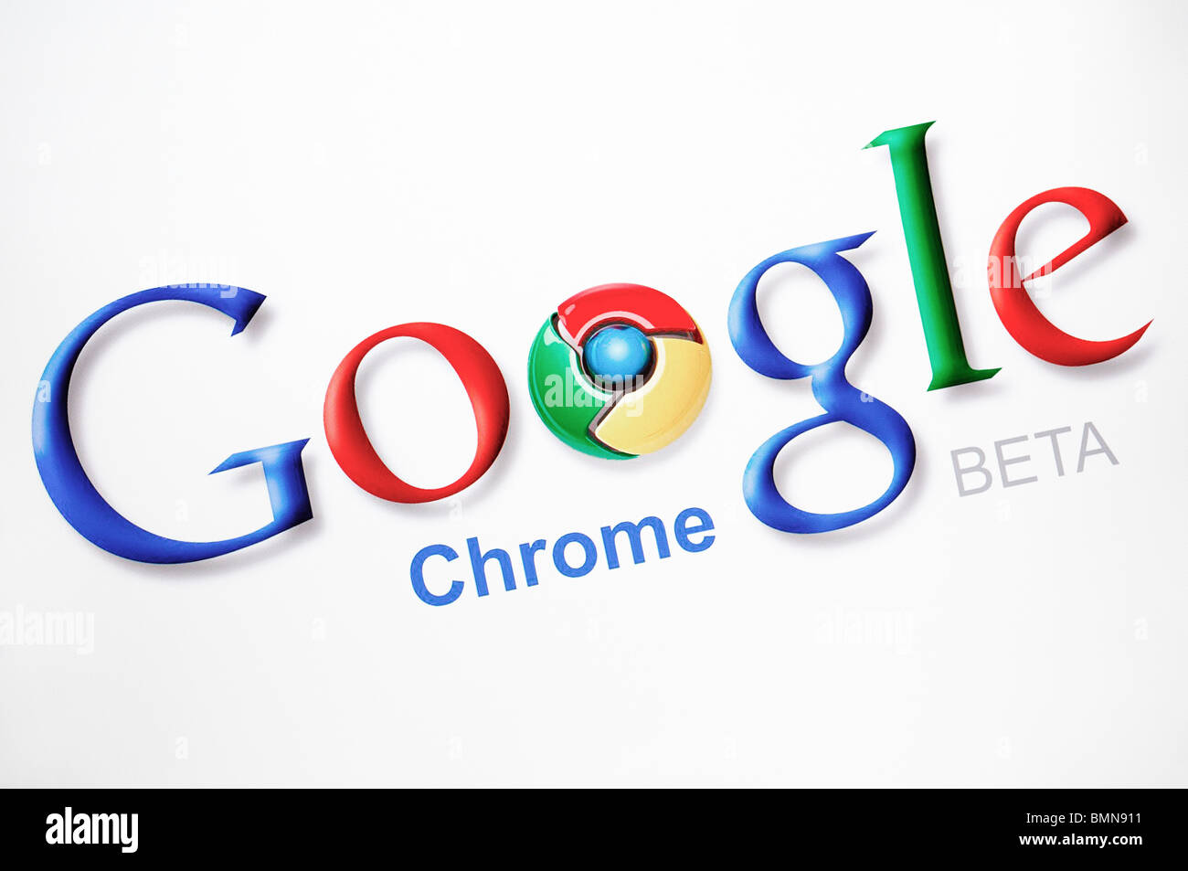 Google Chrome Web Browser Screenshot - Stock Image