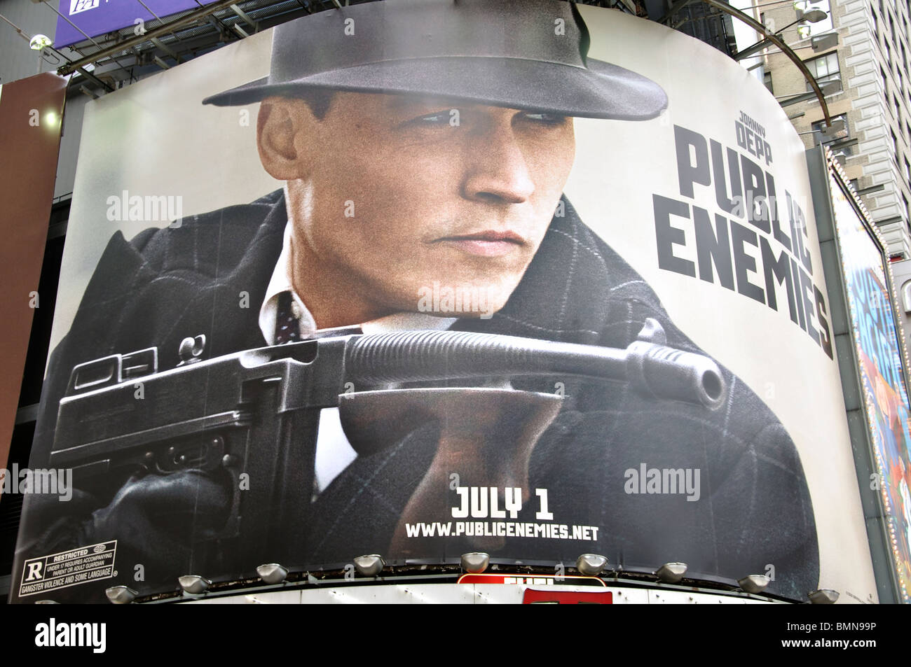 Public Enemy ad, Times Square, New York City, USA - Stock Image