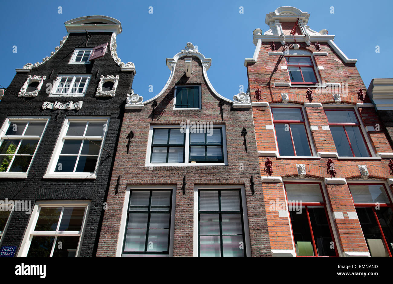Homes houses along Prinsengracht - Stock Image