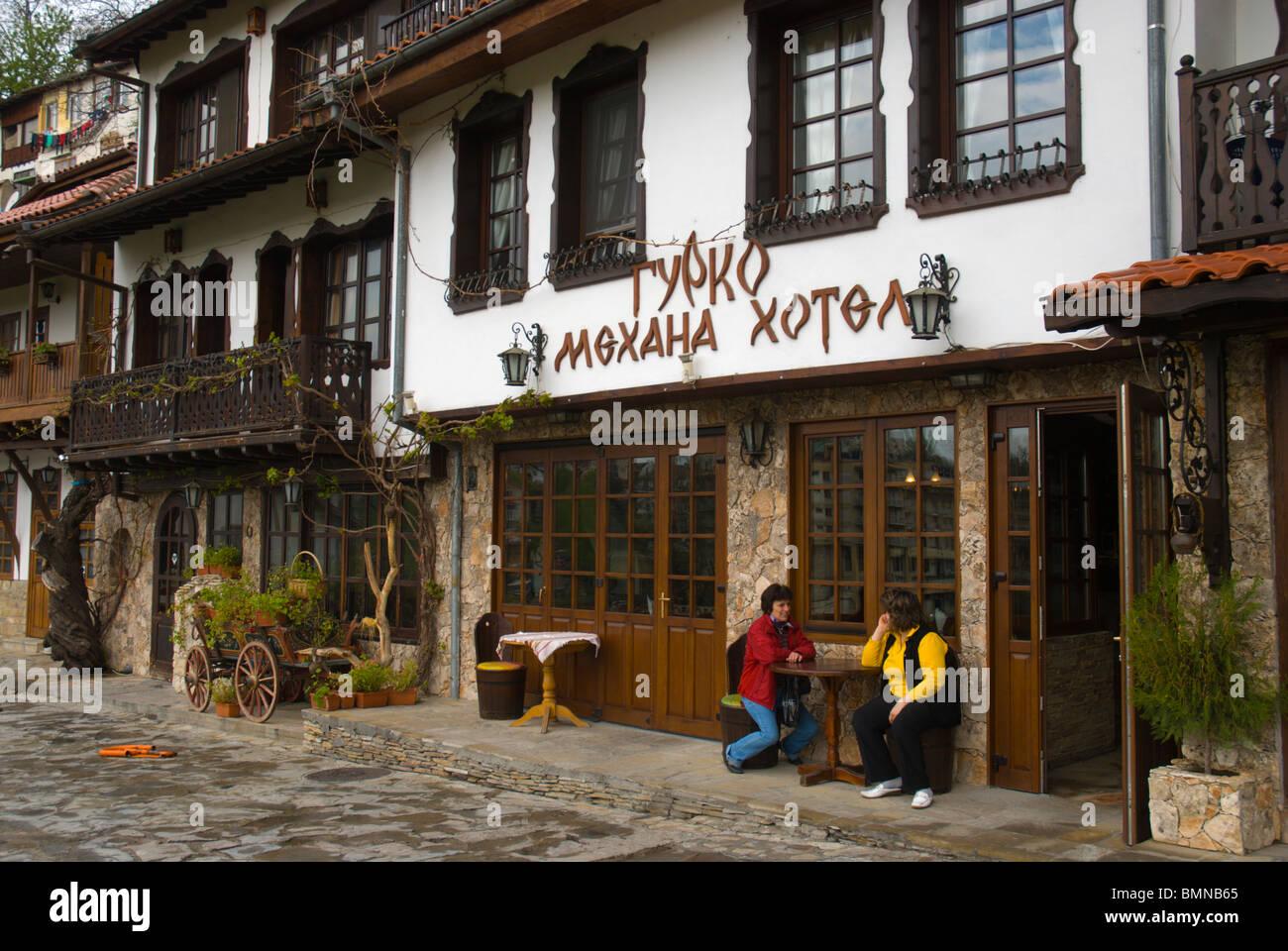 Mehana typical Bulgarian restaurant old town Veliko Tarnovo central Bulgaria Balkans Europe Stock Photo