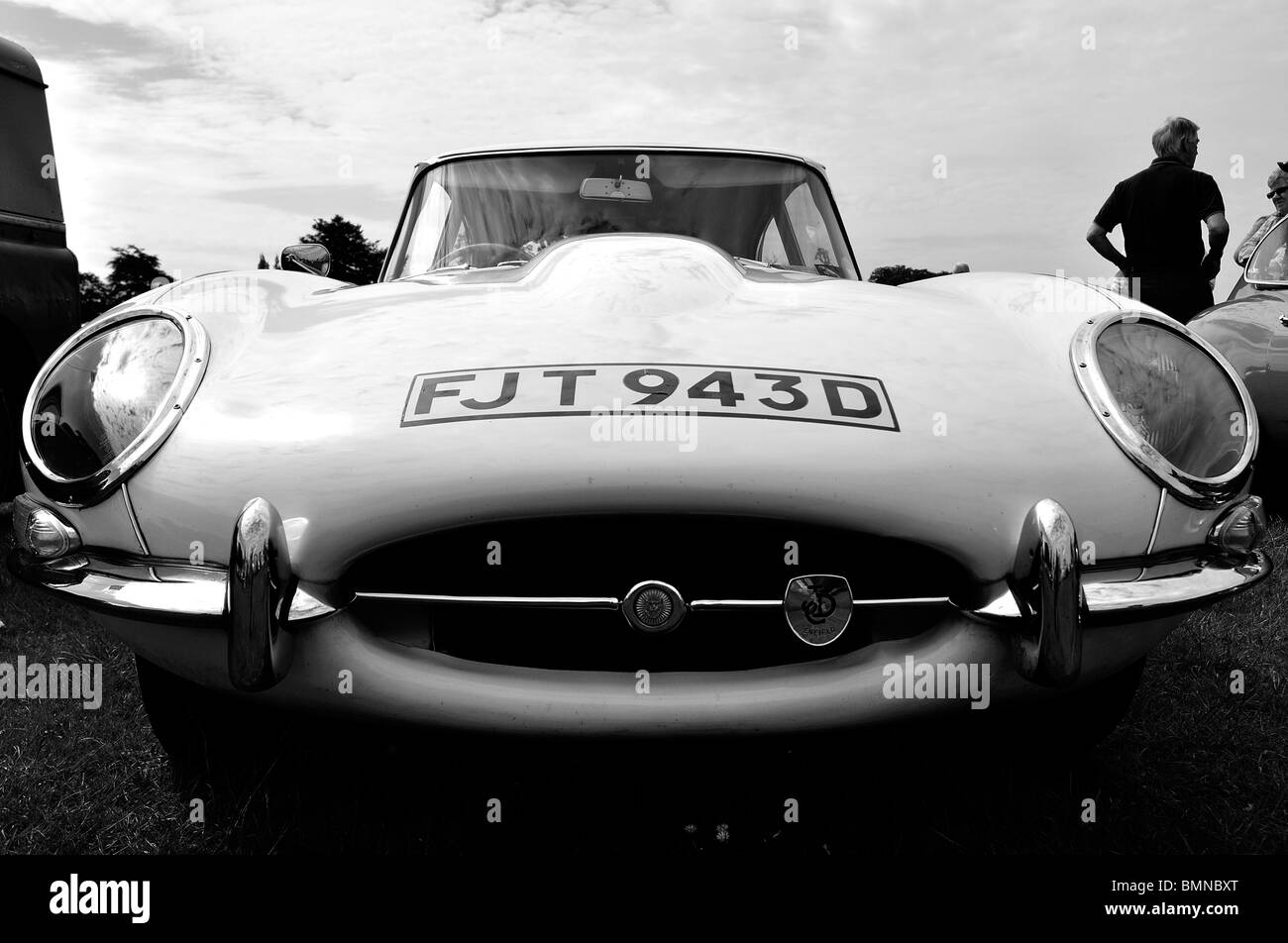 Jaguar E-type at Classic Car Show in Luton 2010 - Stock Image