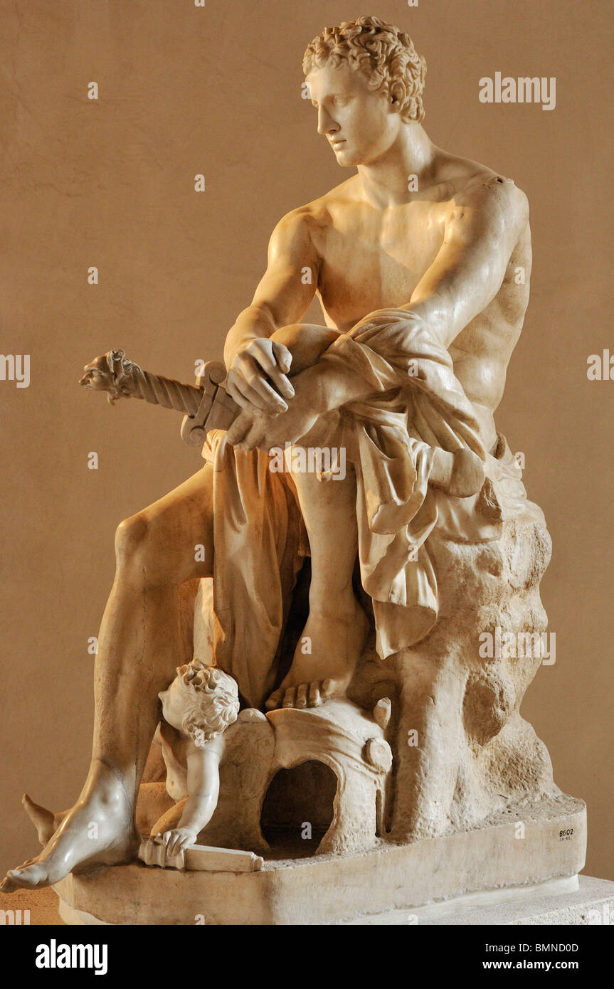 Rome. Italy. National Museum of Rome. Palazzo Altemps. Ludovisi Ares (Mars) 2nd Century B.C. - Stock Image