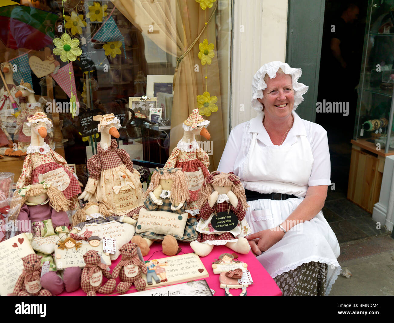 Costumed shopkeeper at Rochester Dickens Festival 2010 - Stock Image