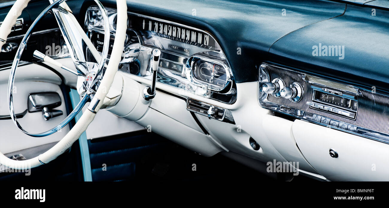 1958 Cadillac Dashboard And Interior Abstract. Classic American Car   Stock  Image