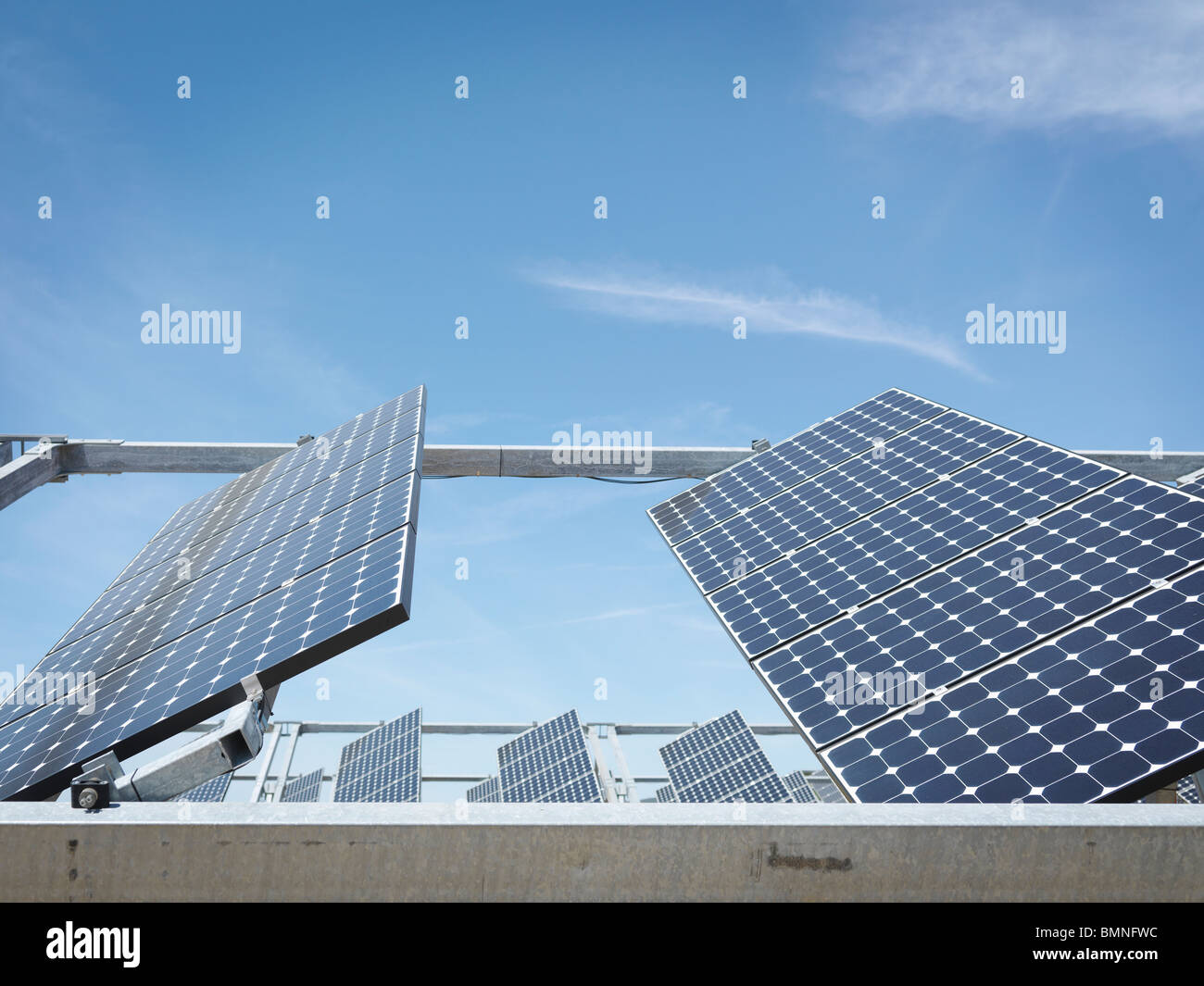 Solar power station showing front panels - Stock Image