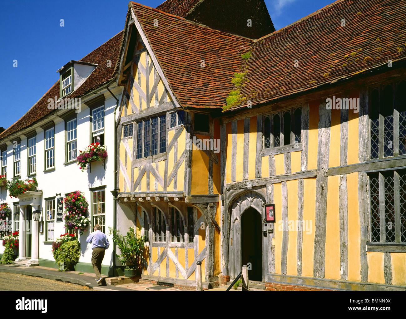 Suffolk, Lavenham, Little Guildhall - Stock Image