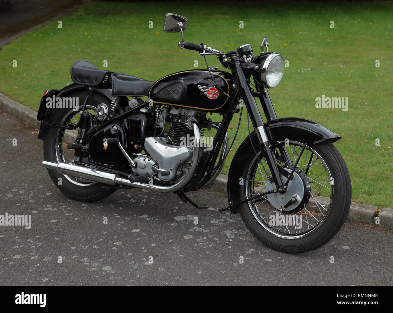 Vintage BSA Golden Flash motorcycle. - Stock Image