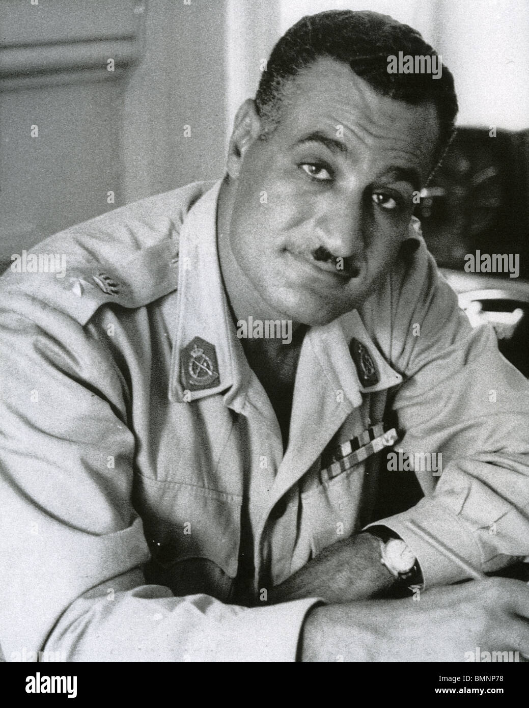 GAMAL ABDEL NASSER (1918-1970) was the second President of Egypt - Stock Image
