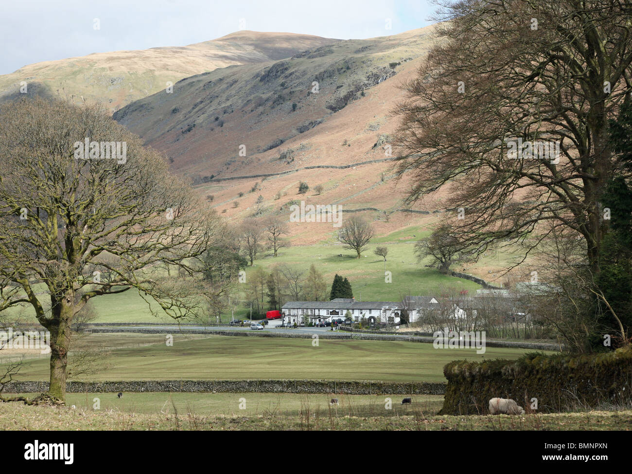 The Kings Head Hotel, Thirlspot, Cumbria the English Lake District, England, UK - Stock Image