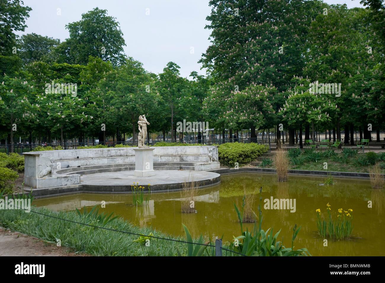 Paris, Jardin des Tuilleries Stock Photo