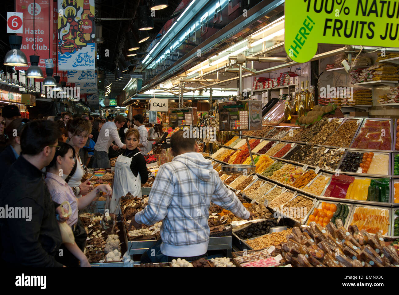 Mercat de la Boqueria, Barcelona, Spain - Stock Image