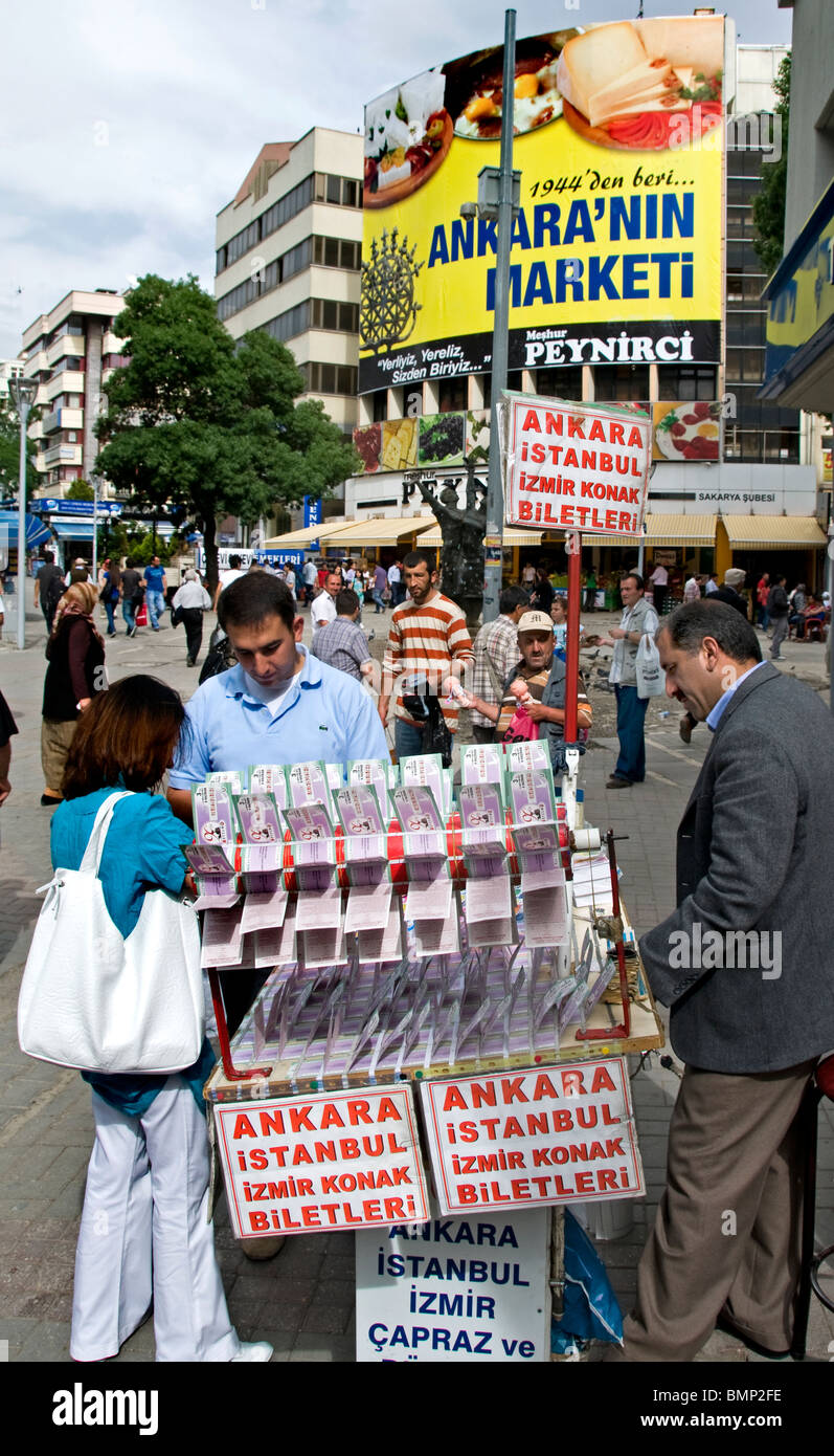 Ankara Kizilay Turkey lottery gamble gambling gambler game of chance money - Stock Image