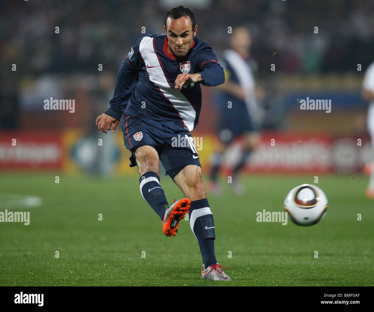 Landon Donovan of the United States cracks a shot against England during a 2010 FIFA World Cup football match June - Stock Image
