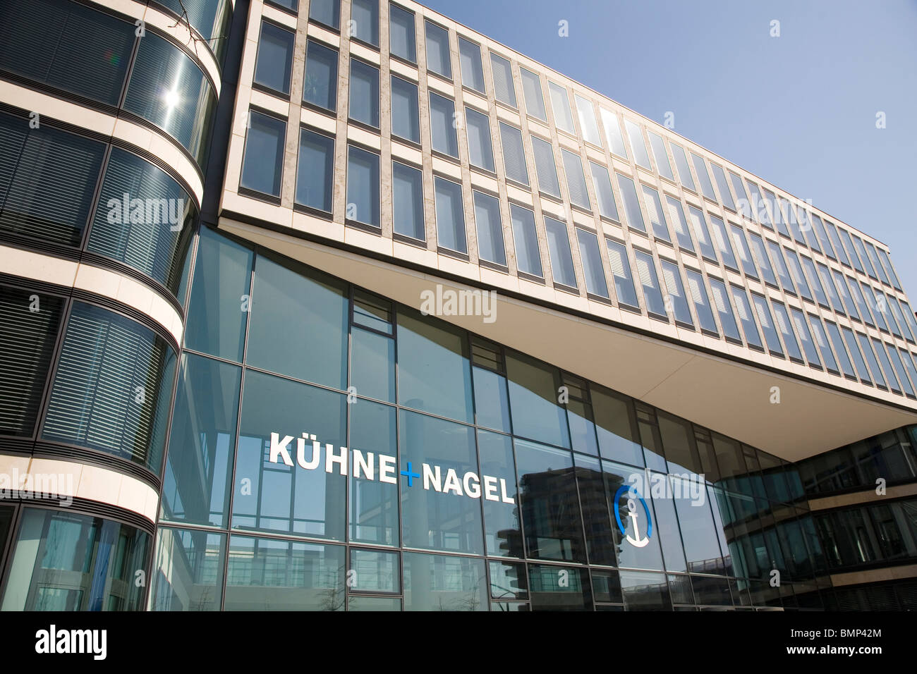 The Kuehne und Nagel office in the HafenCity area of Hamburg, Germany. Stock Photo