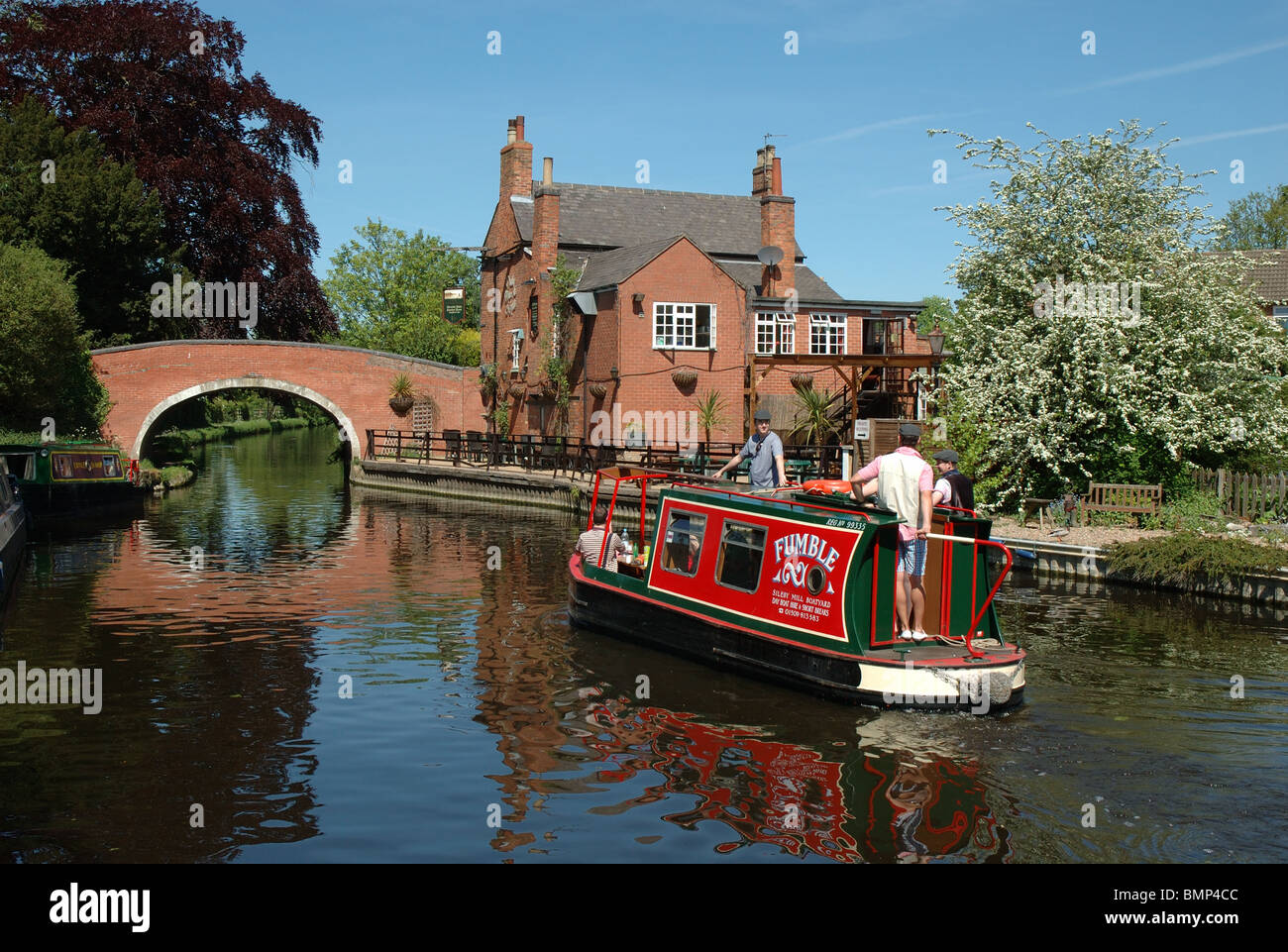 the River Soar, Barrow upon Soar, Leicestershire, England, UK - Stock Image