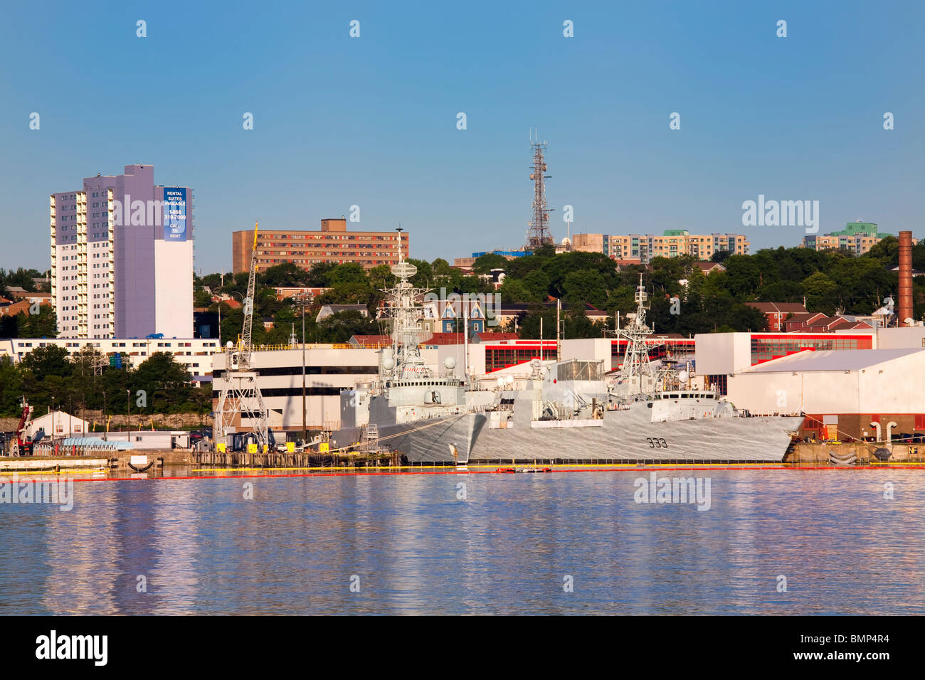 The HMCS Toronto at the HMC Dockyard which is part of Canadian Forces Base Halifax.  Located along Halifax Harbour, - Stock Image