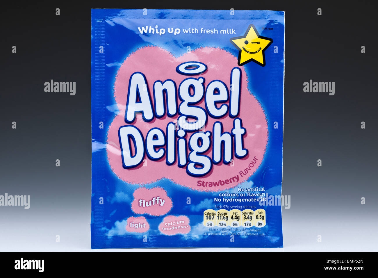 Packet of Strawberry flavour Angel delight - Stock Image
