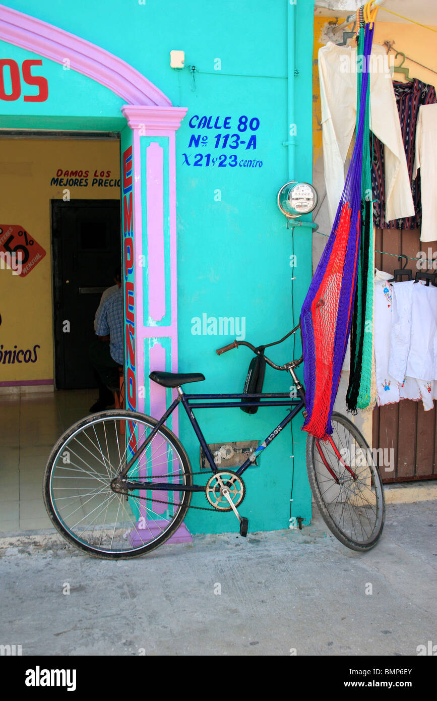 Bicycle ;  Progresso ; Mexico - Stock Image