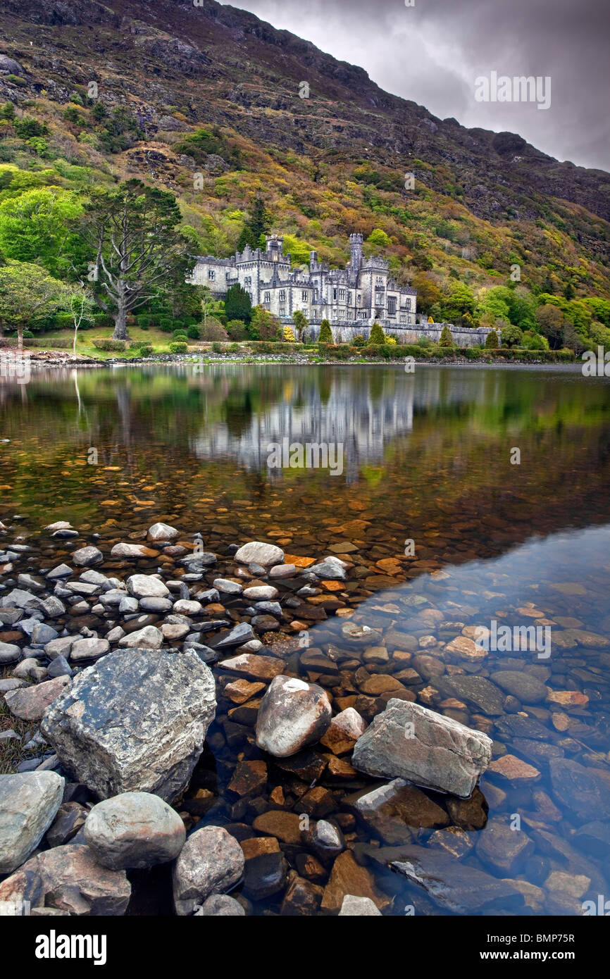Kylemore Abbey, Co Galway, Ireland. - Stock Image