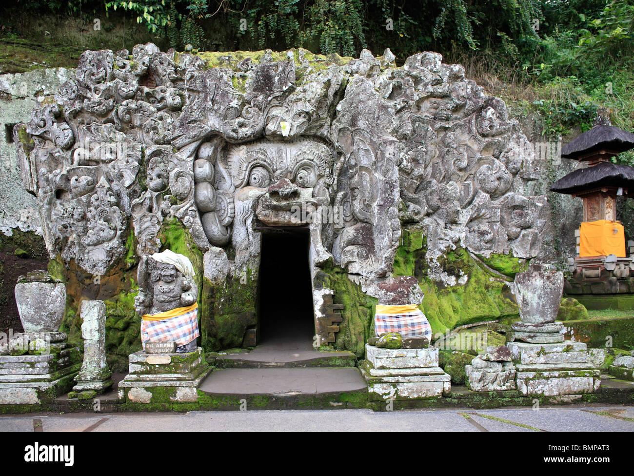 Elephant Cave at Goa Gajah Temple, Bedulu, near Ubud, Bali, Indonesia. - Stock Image