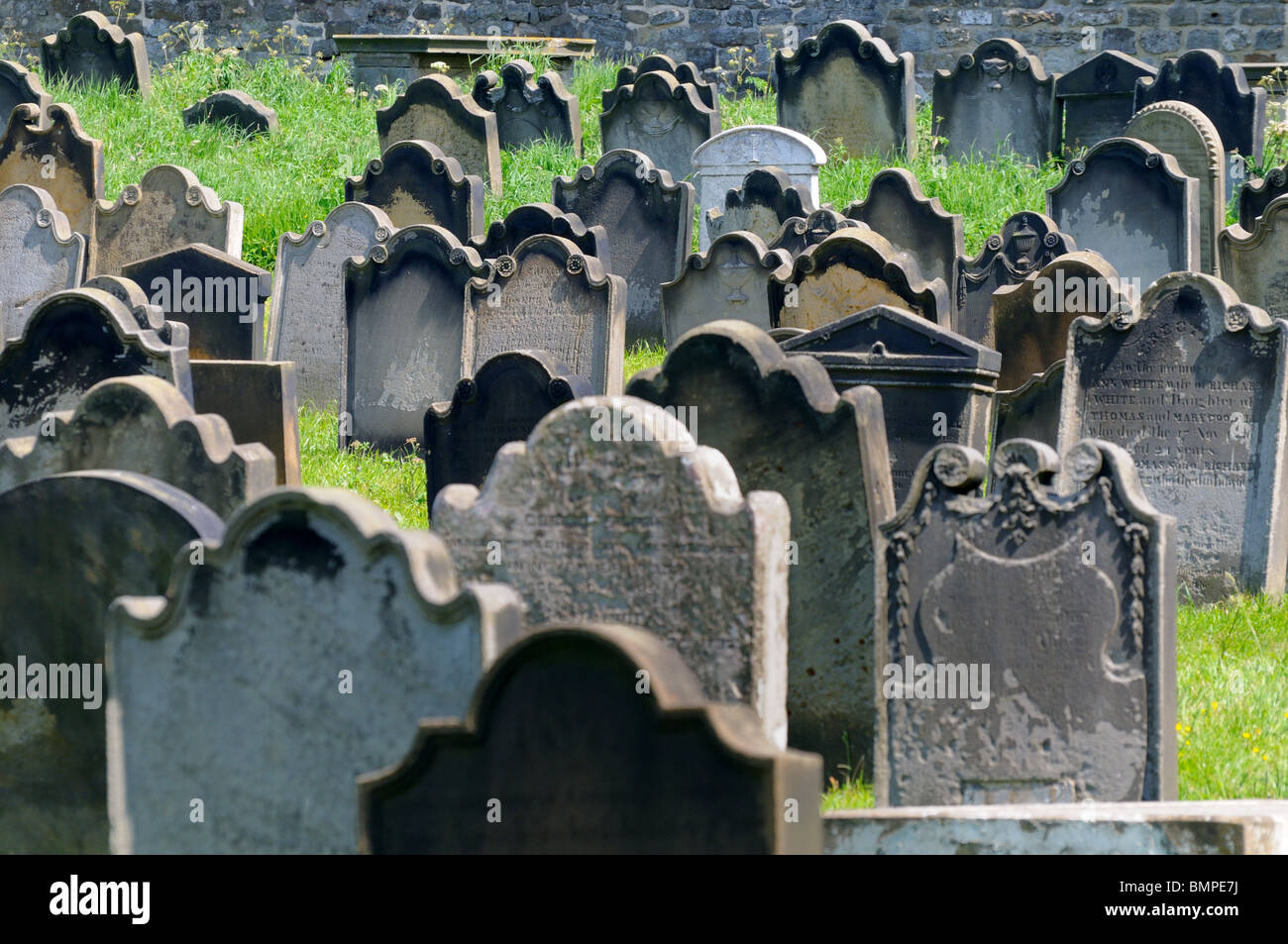 Whitby Graveyard North Yorkshire England - Stock Image