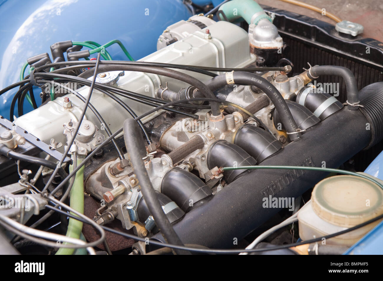Triumph Tr6 Six Cylinder Fuel Injected Engine Stock Photo 30002537