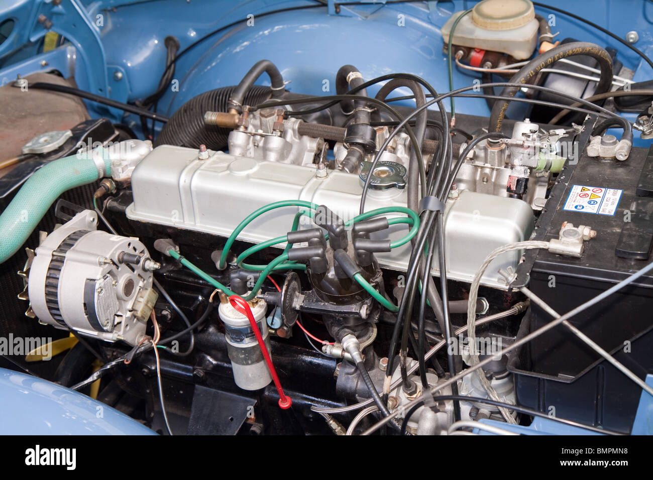 Triumph Tr6 Six Cylinder Fuel Injected Engine Stock Photo 30002708