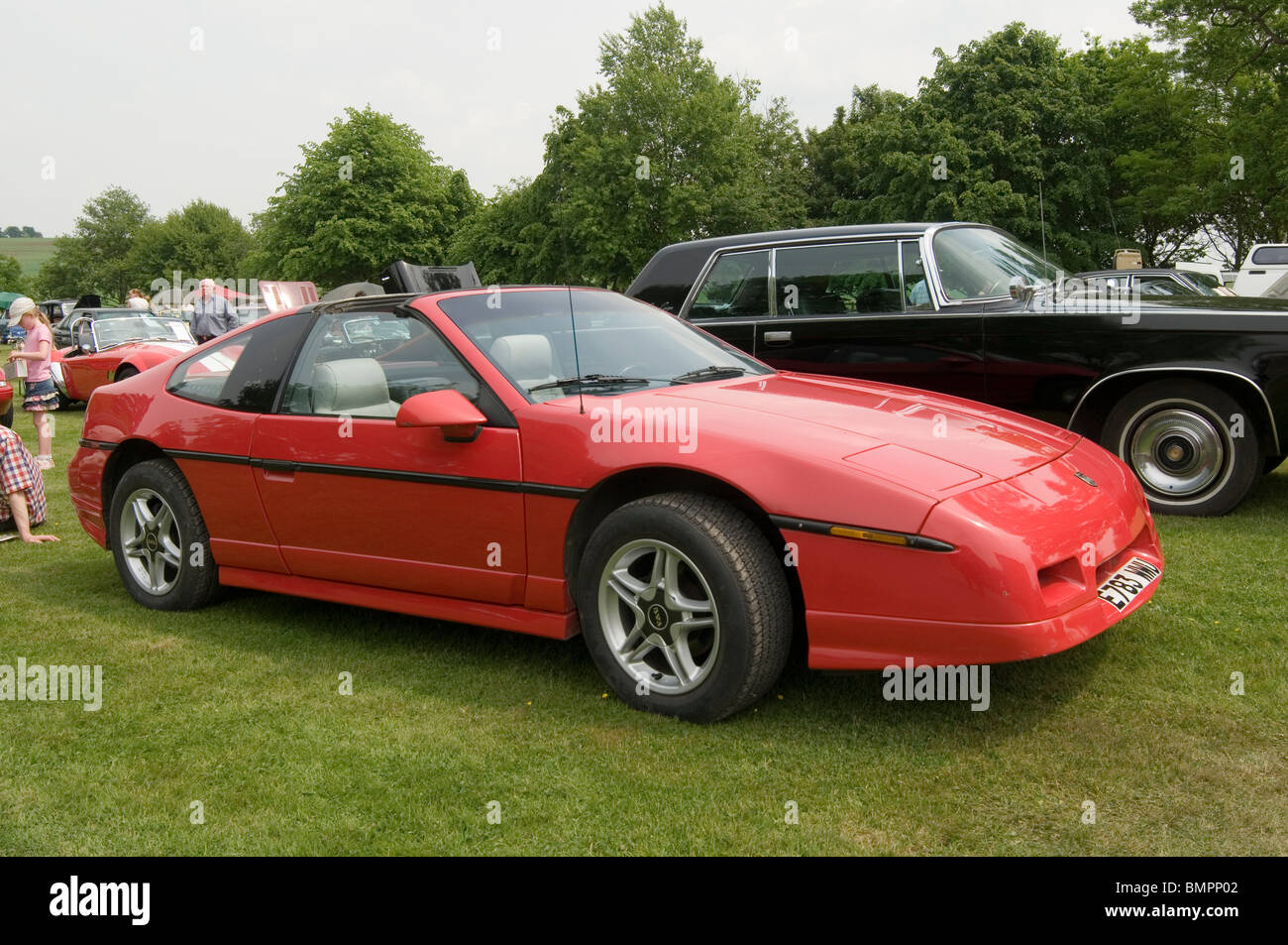 pontiac fiero sports car mid engined american - Stock Image