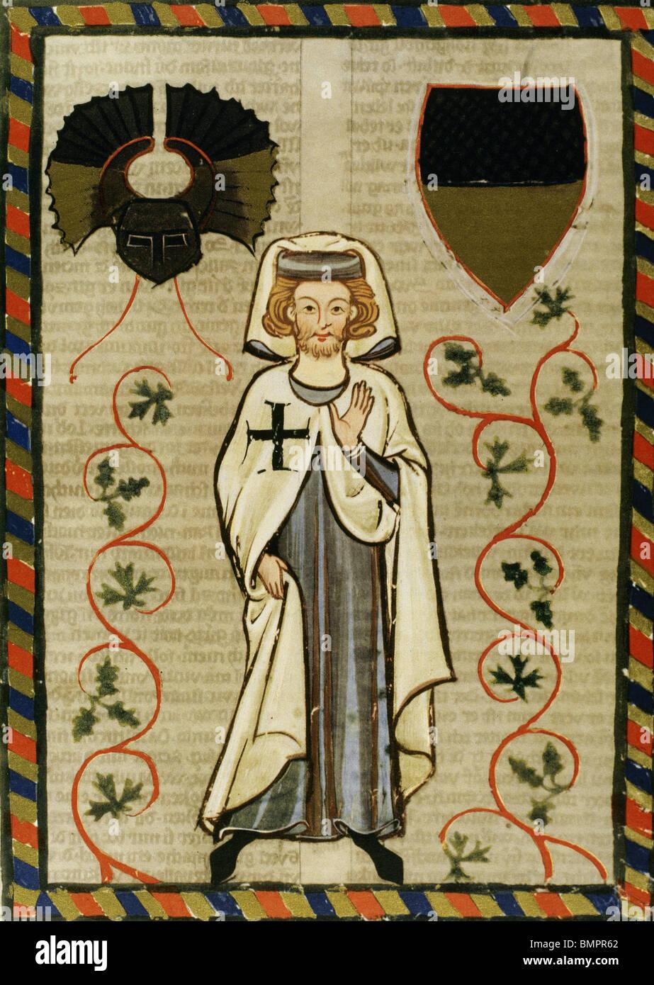 Der Tannhauser (1200-1305). Codex Manesse. - Stock Image