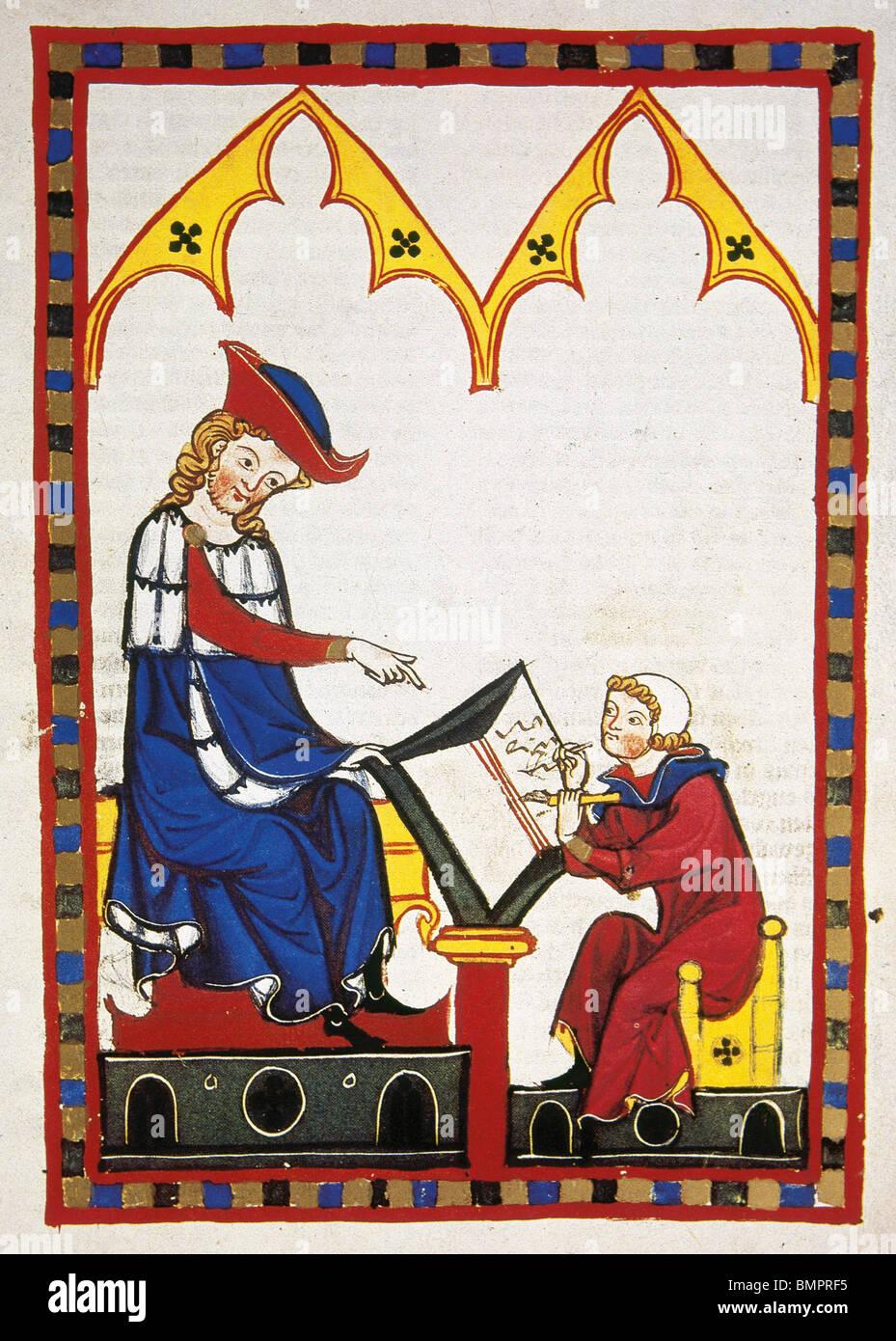 Konrad von Wurzburg. Codex Manesse. - Stock Image