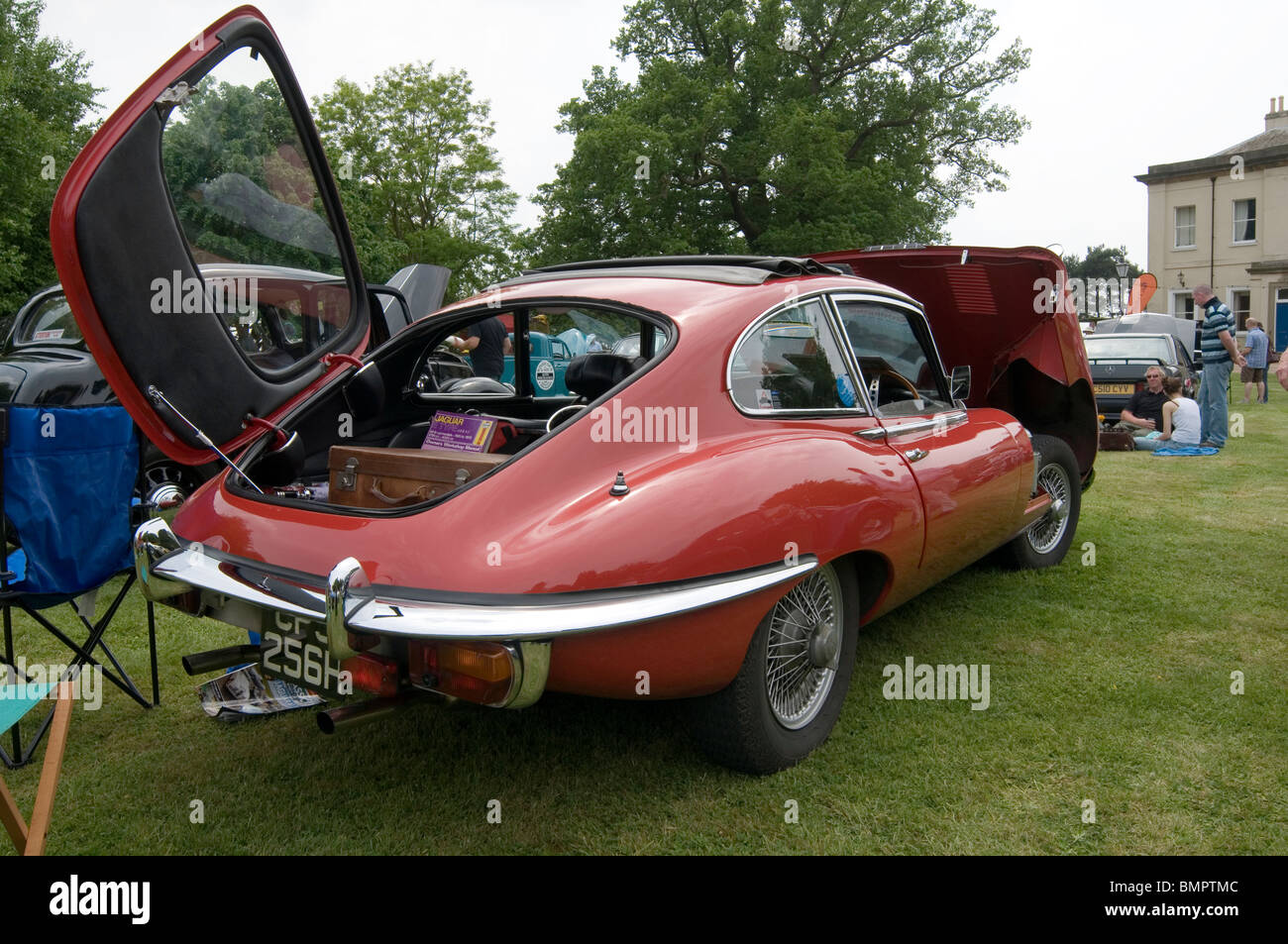 jaguar e type coupe sports car jag hatchback - Stock Image