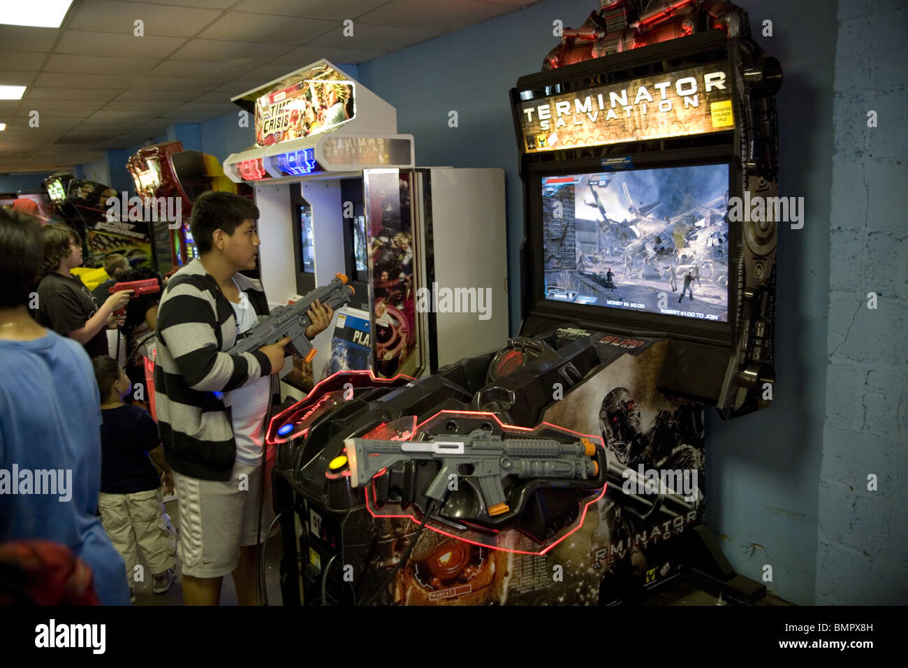 Video game arcade, Coney Island, Brooklyn, New York. - Stock Image