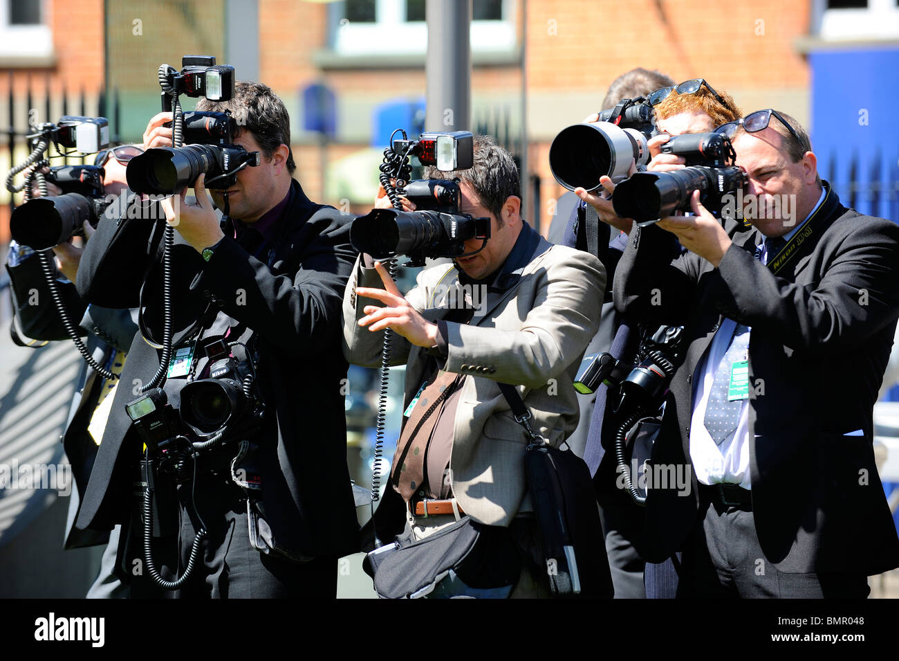 Photographers at work during day two of Royal Ascot 2010 - Stock Image
