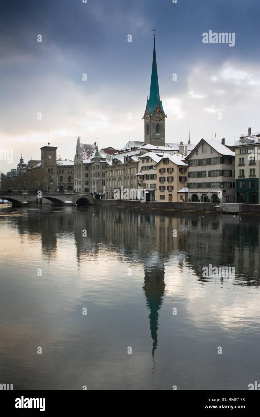 Limmat River, Zürich, Switzerland - Stock Image