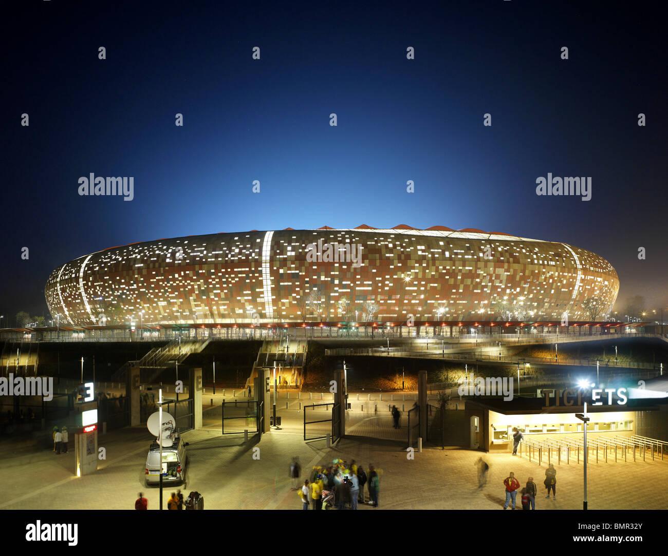 SOCCER CITY STADIUM, POPULOUS ARCHITECTS, JOHANNESBURG, SOUTH AFRICA, 2010 - Stock Image