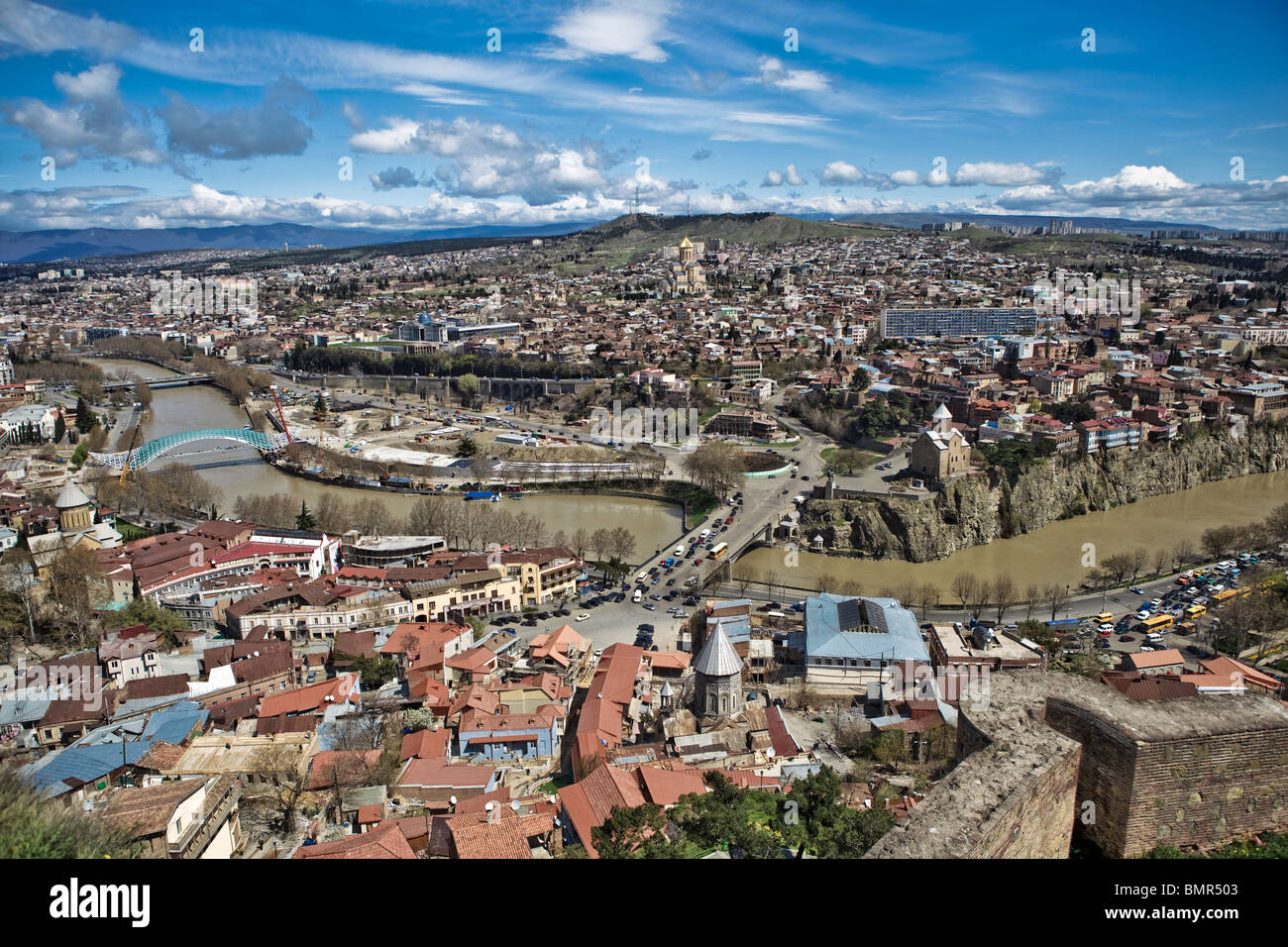 View from Narikala Castle Tbilisi, Georgia Stock Photo