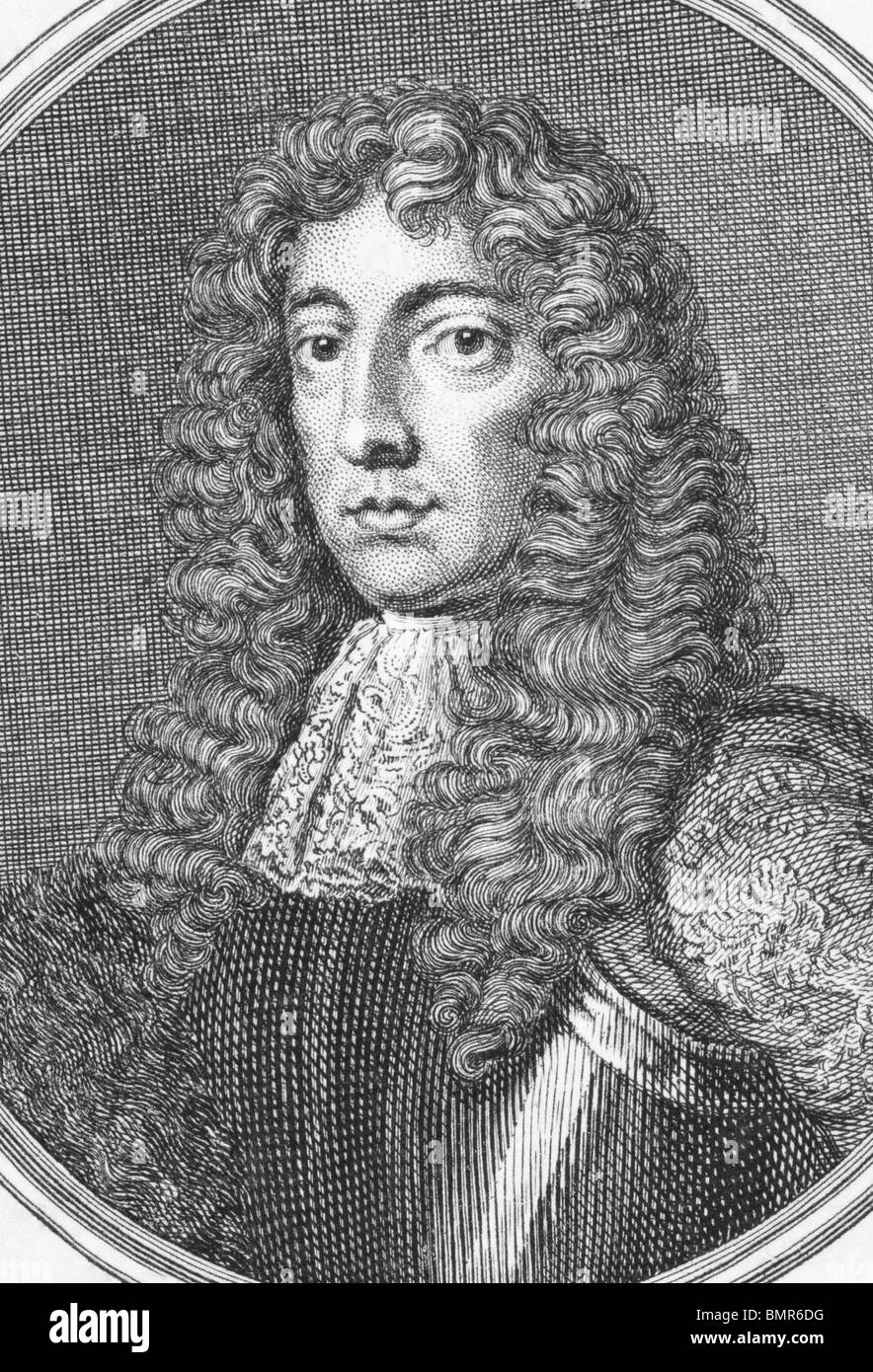 Ashley Cooper, 1st Earl of Shaftesbury (1621-1683) on engraving from the 1800s. English politician. - Stock Image